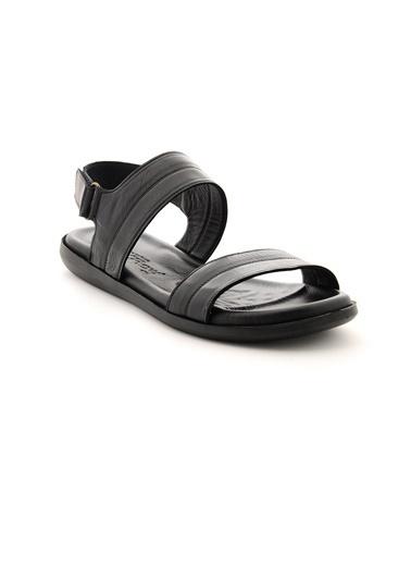 Dr.Flexer 477 HakıkıDerıErkek Sandalet Sıyah Siyah